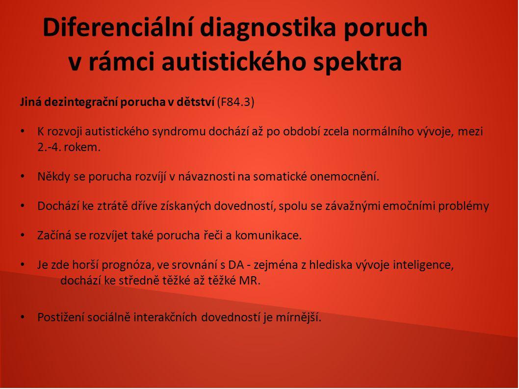 Diferenciální diagnostika poruch v rámci autistického spektra