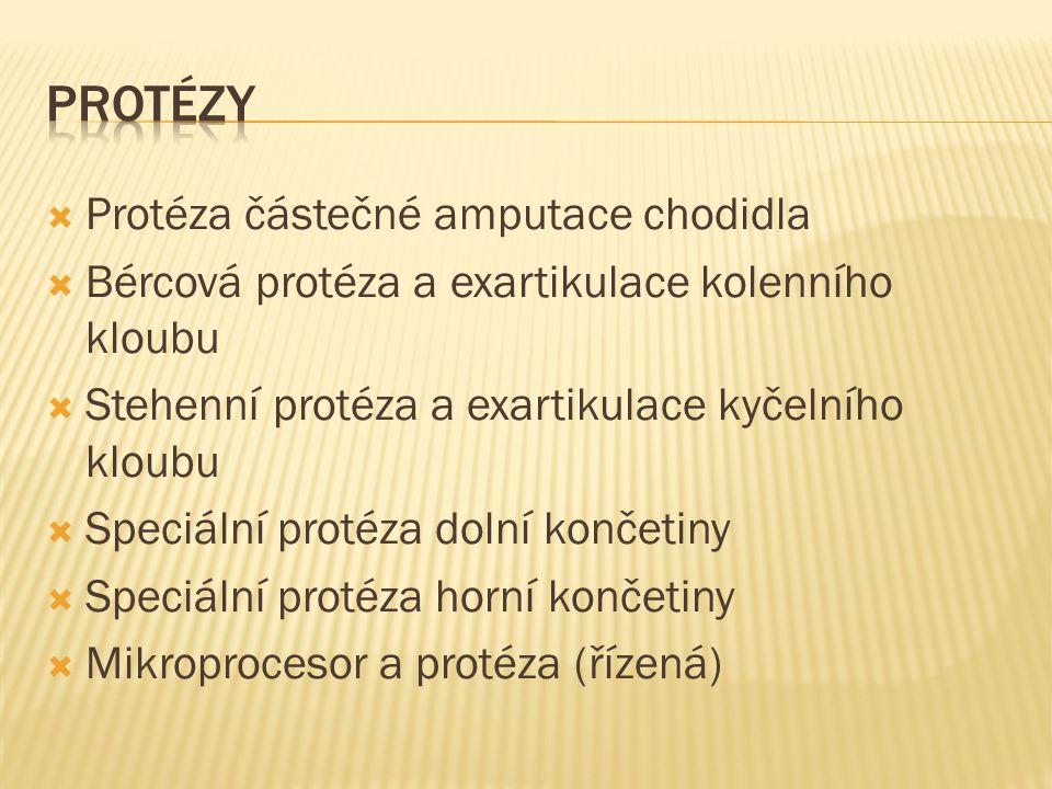 Protézy Protéza částečné amputace chodidla