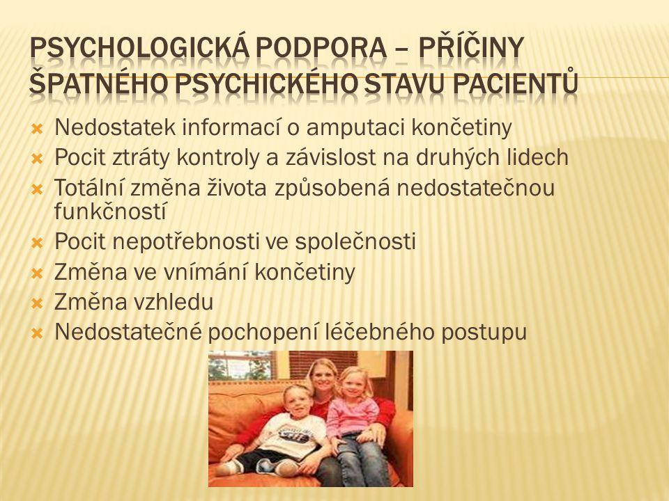 Psychologická podpora – příčiny špatného psychického stavu pacientů