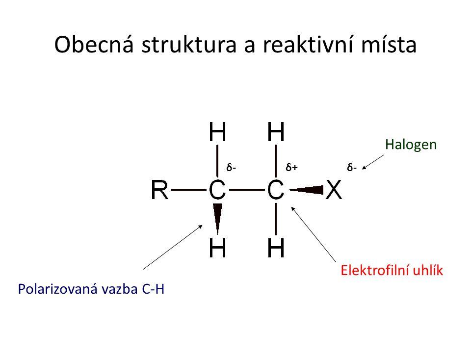 Obecná struktura a reaktivní místa