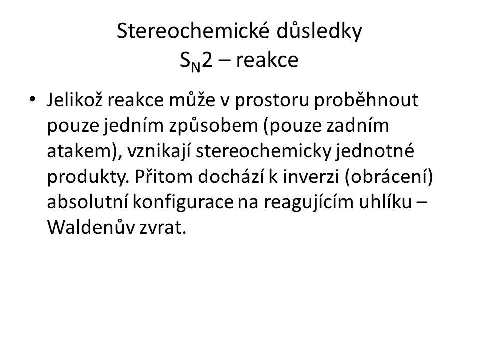 Stereochemické důsledky SN2 – reakce