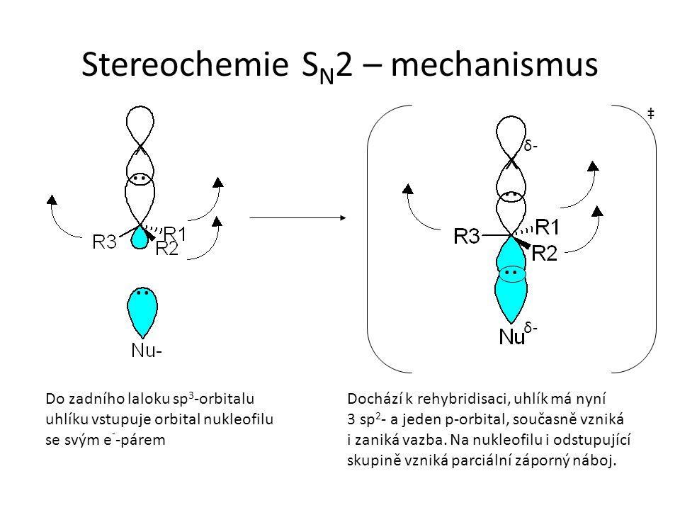 Stereochemie SN2 – mechanismus