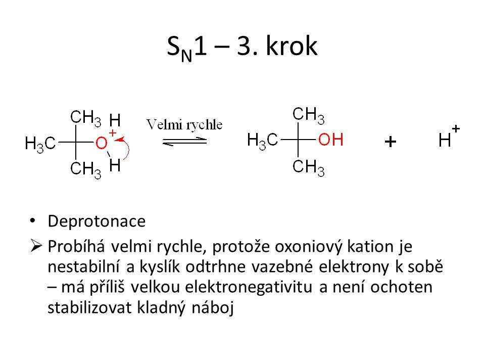 SN1 – 3. krok Deprotonace.