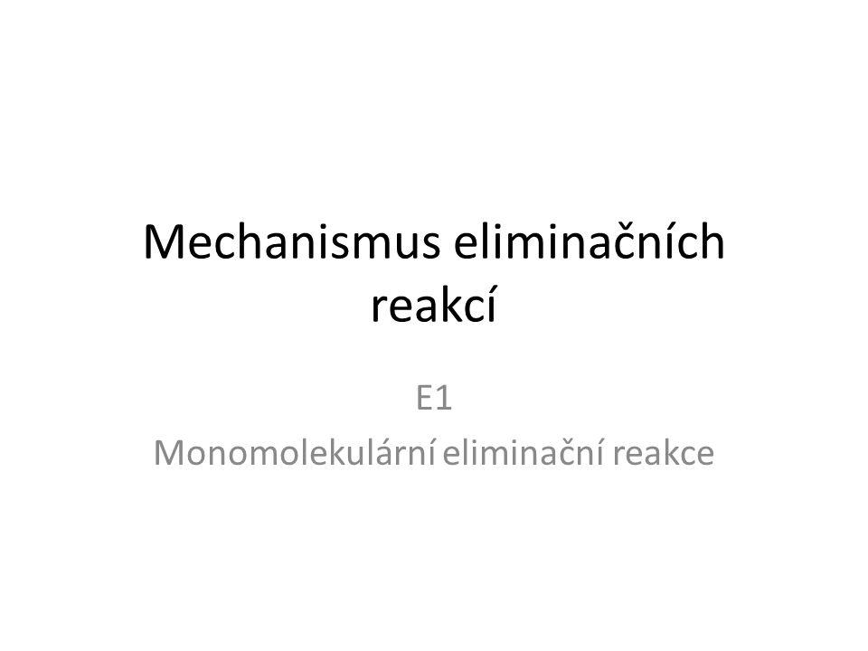 Mechanismus eliminačních reakcí