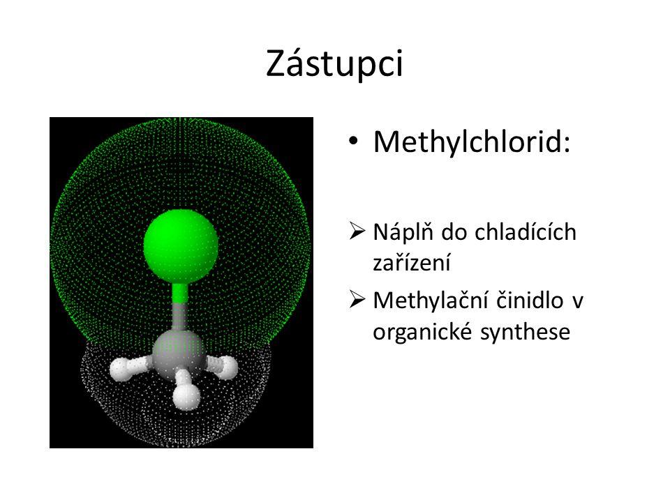 Zástupci Methylchlorid: Náplň do chladících zařízení