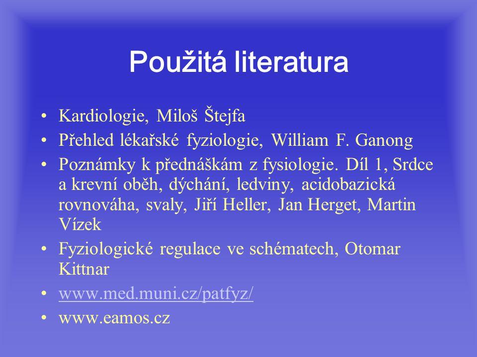 Použitá literatura Kardiologie, Miloš Štejfa