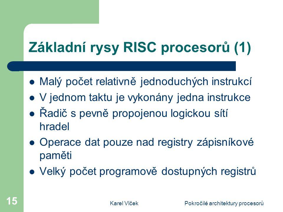 Základní rysy RISC procesorů (1)