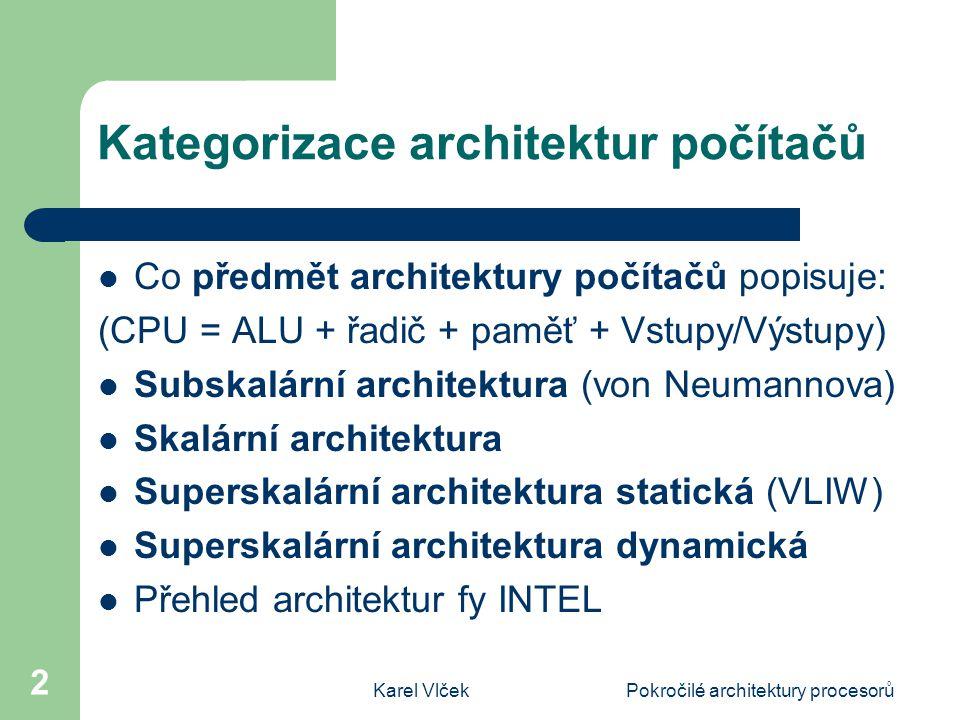Kategorizace architektur počítačů