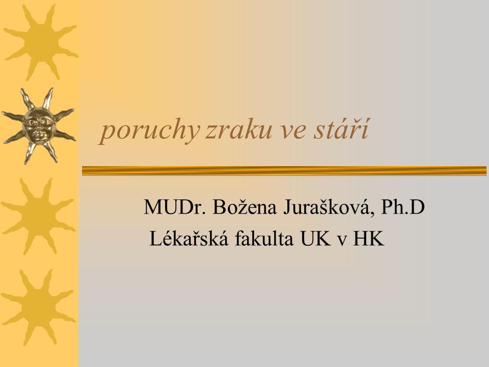 MUDr. Božena Jurašková, Ph.D Lékařská fakulta UK v HK