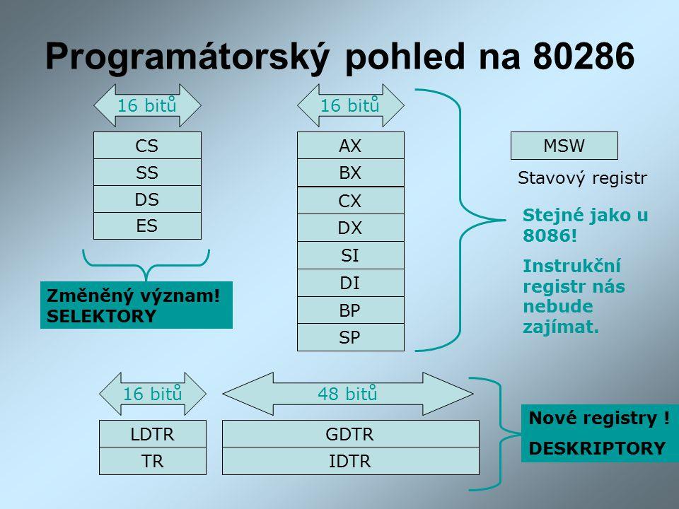 Programátorský pohled na 80286