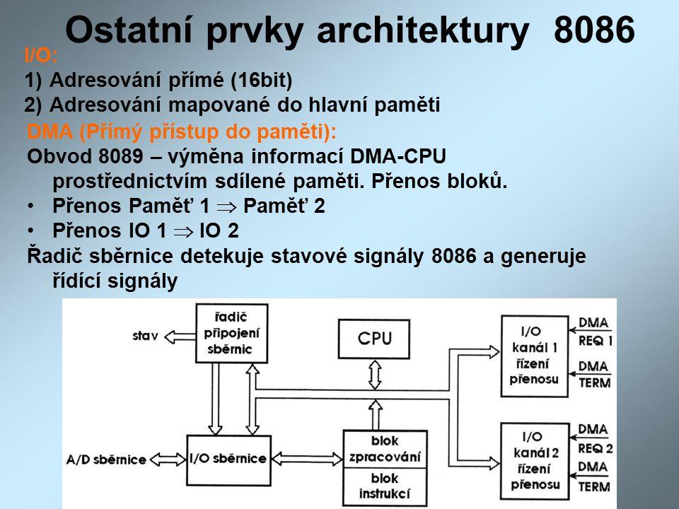 Ostatní prvky architektury 8086