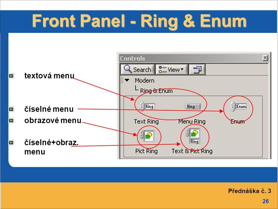 Front Panel - Ring & Enum