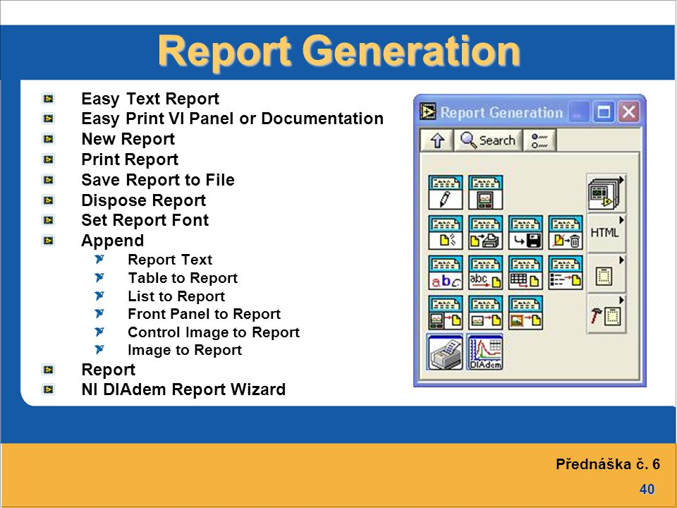 Report Generation Easy Text Report