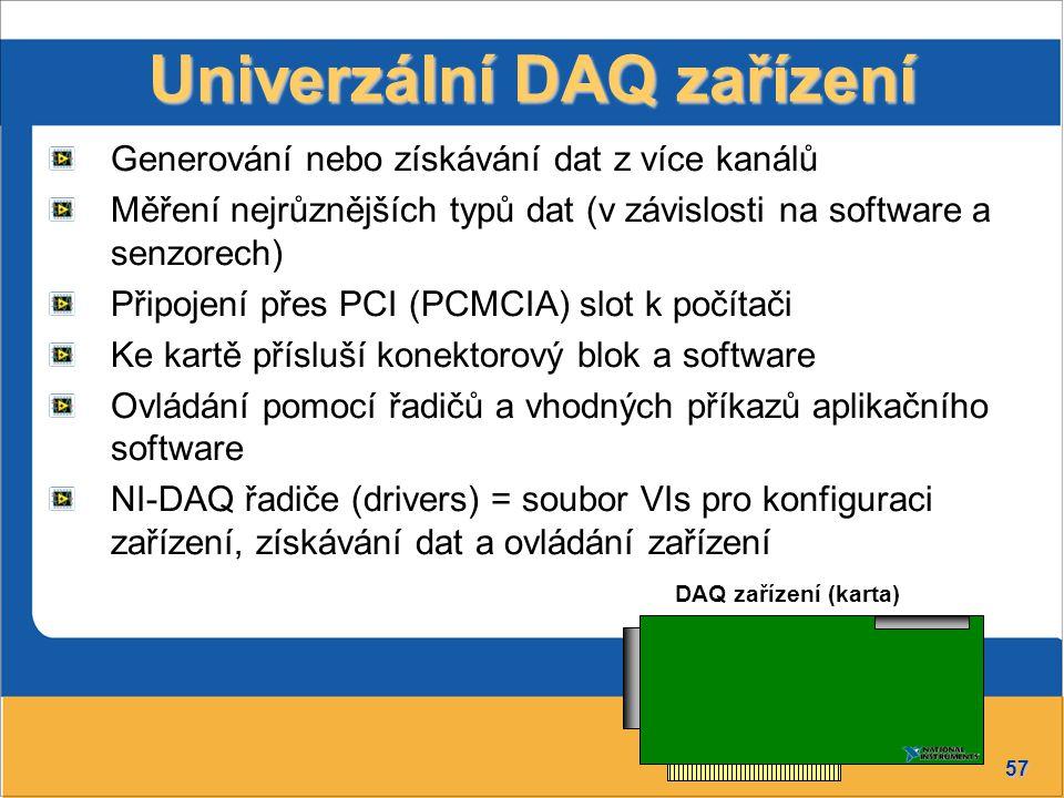 Univerzální DAQ zařízení