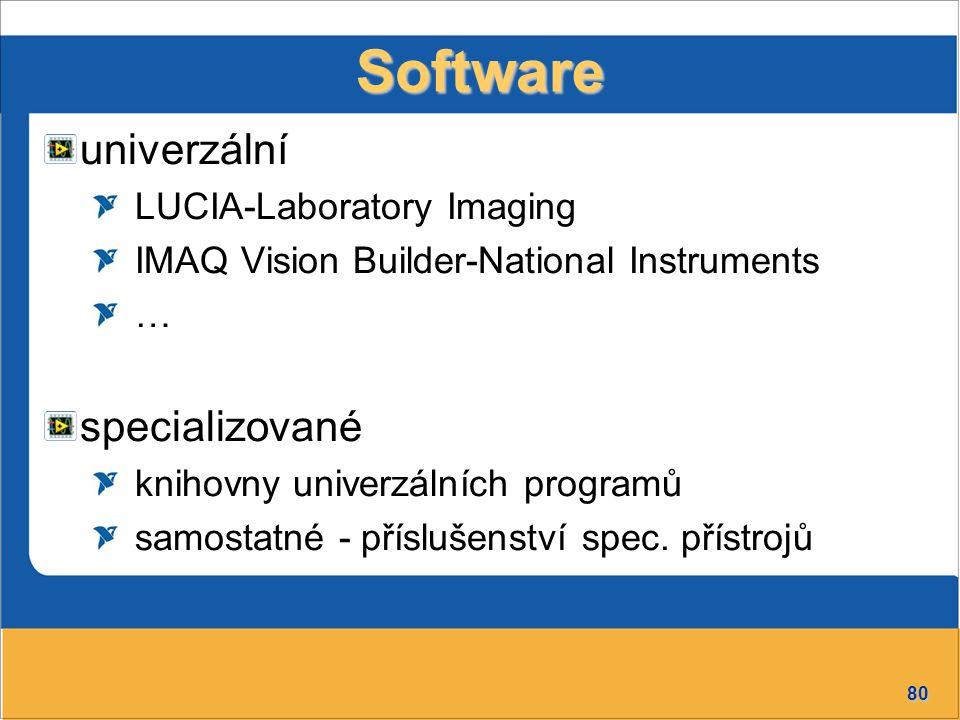 Software univerzální specializované LUCIA-Laboratory Imaging