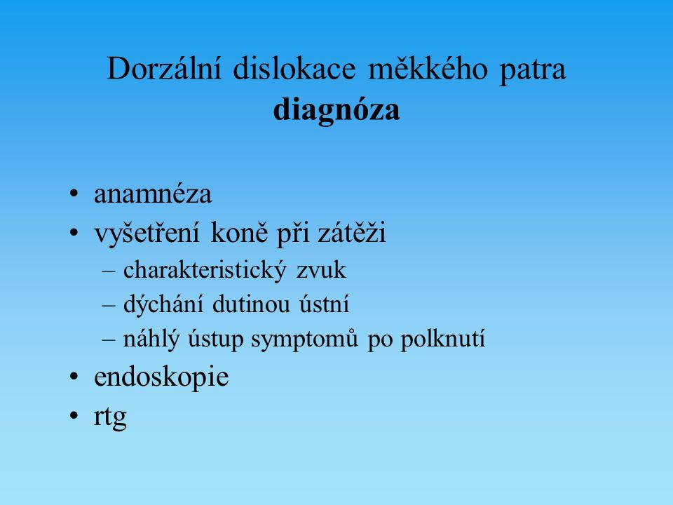 Dorzální dislokace měkkého patra diagnóza