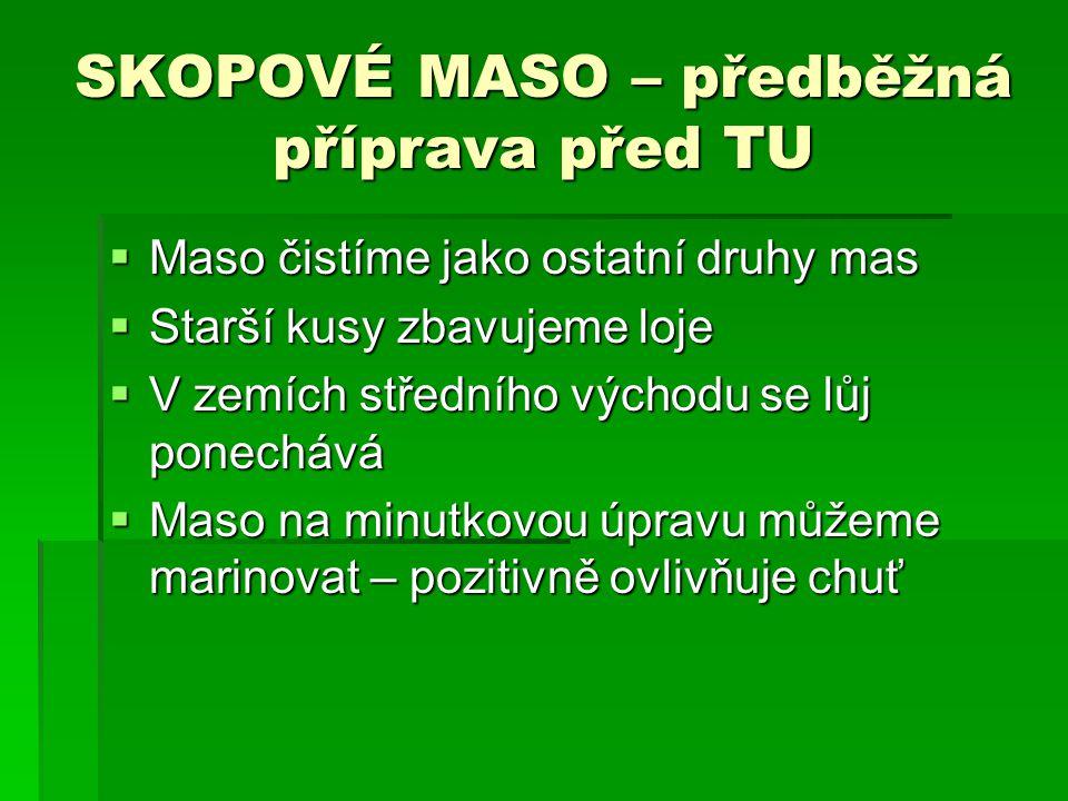 SKOPOVÉ MASO – předběžná příprava před TU