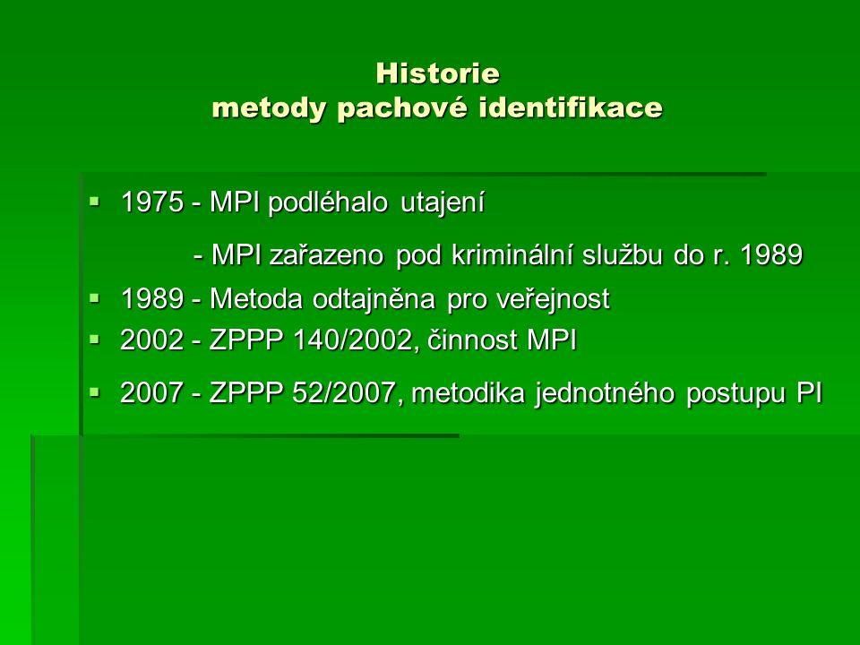 Historie metody pachové identifikace
