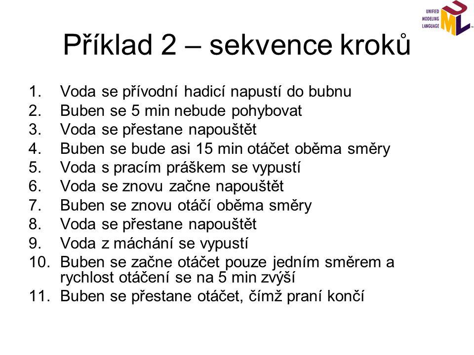 Příklad 2 – sekvence kroků