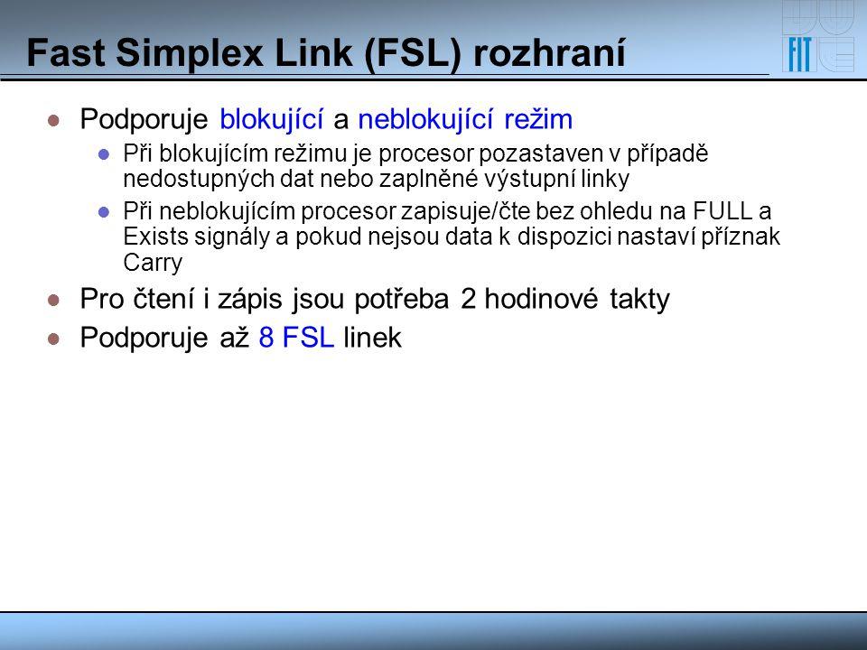 Fast Simplex Link (FSL) rozhraní