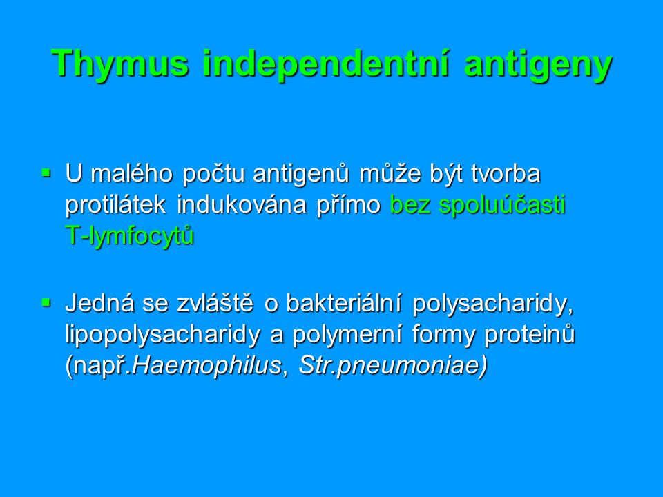 Thymus independentní antigeny