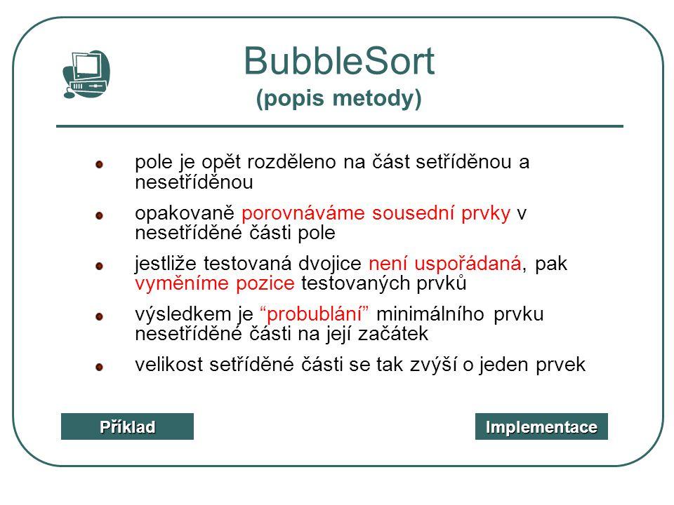 BubbleSort (popis metody)