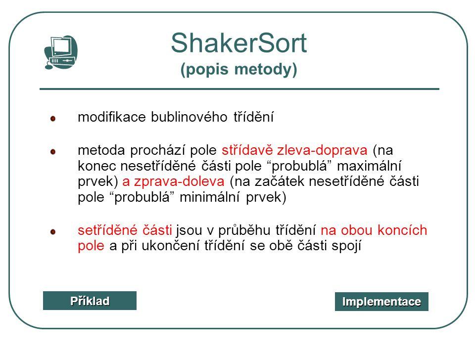 ShakerSort (popis metody)