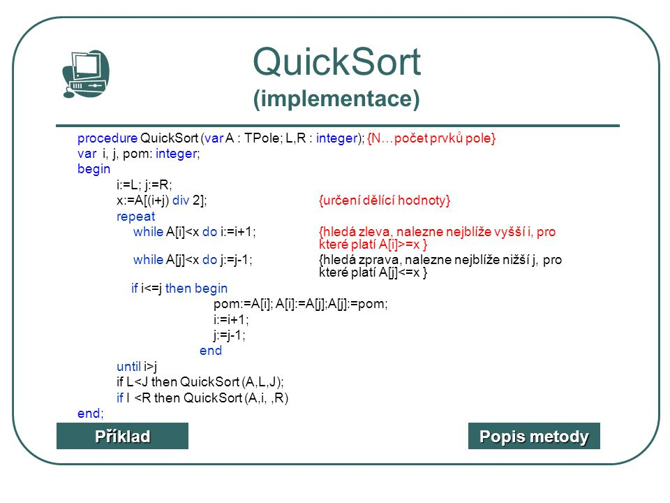 QuickSort (implementace)