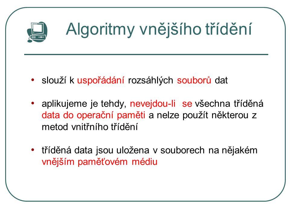 Algoritmy vnějšího třídění