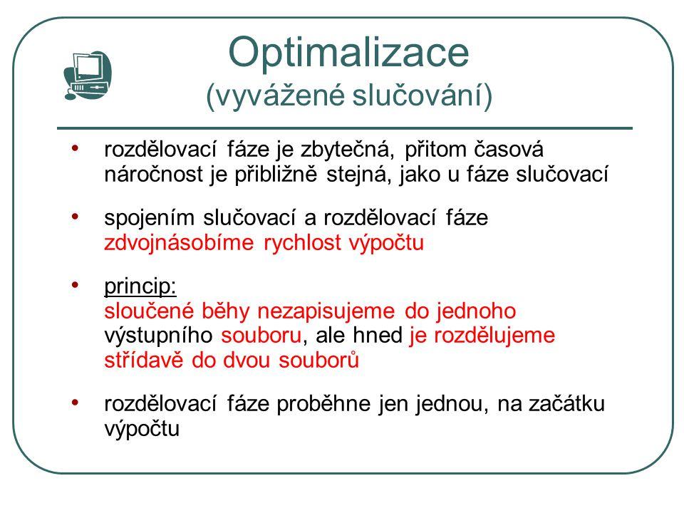 Optimalizace (vyvážené slučování)