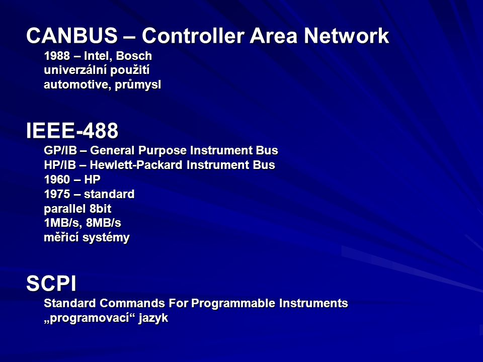 CANBUS – Controller Area Network
