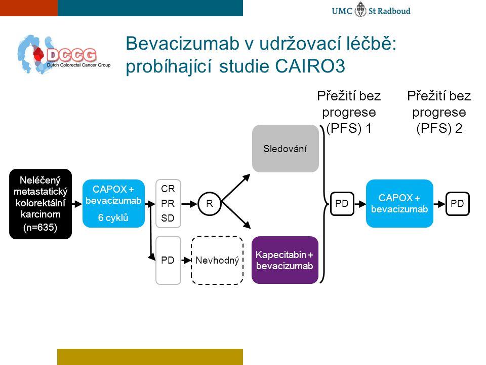 Bevacizumab v udržovací léčbě: probíhající studie CAIRO3