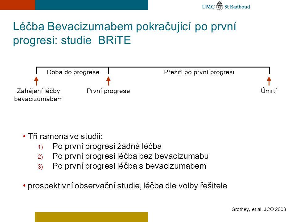 Léčba Bevacizumabem pokračující po první progresi: studie BRiTE