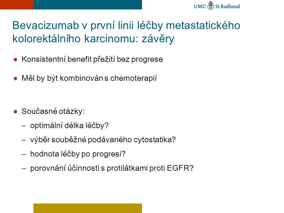 Bevacizumab v první linii léčby metastatického kolorektálního karcinomu: závěry