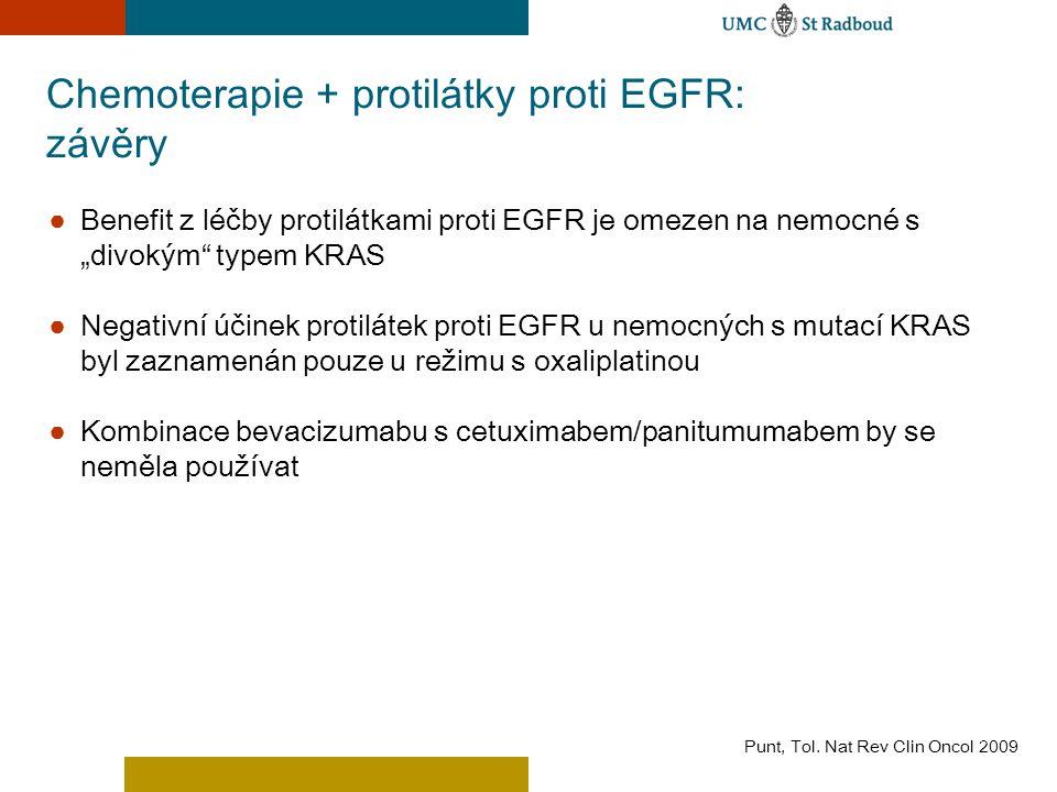 Chemoterapie + protilátky proti EGFR: závěry