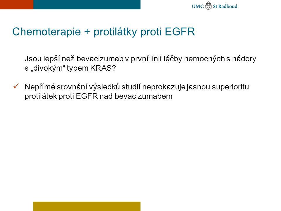 Chemoterapie + protilátky proti EGFR