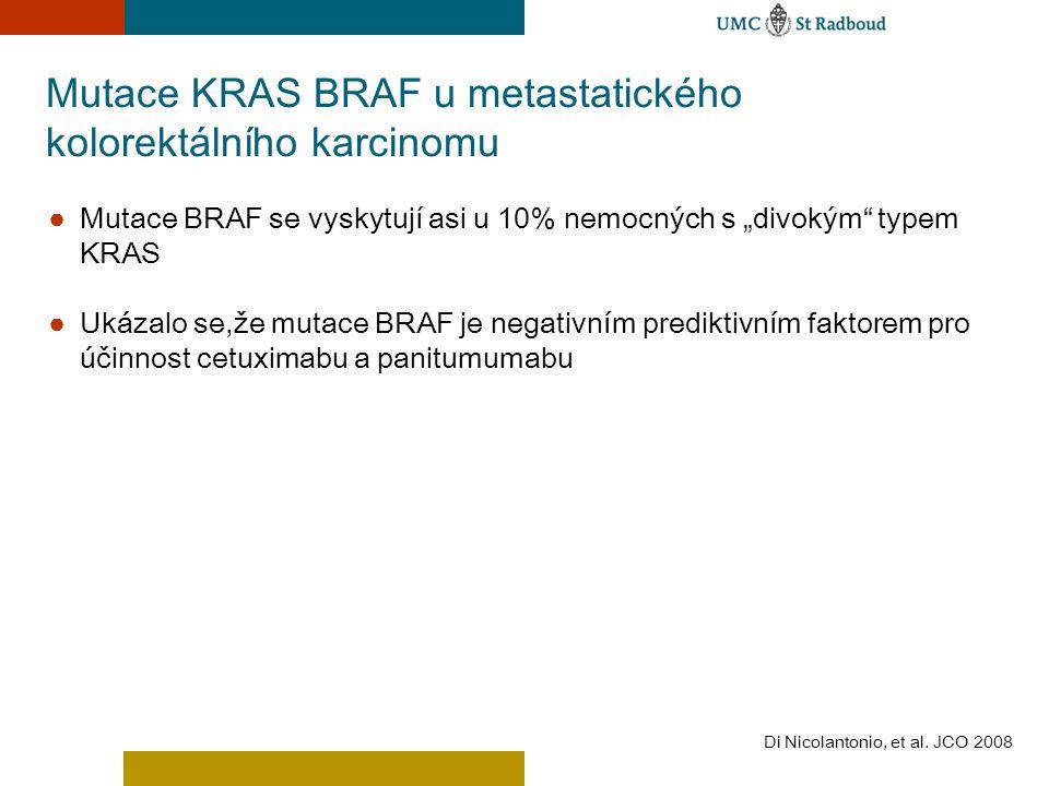 Mutace KRAS BRAF u metastatického kolorektálního karcinomu