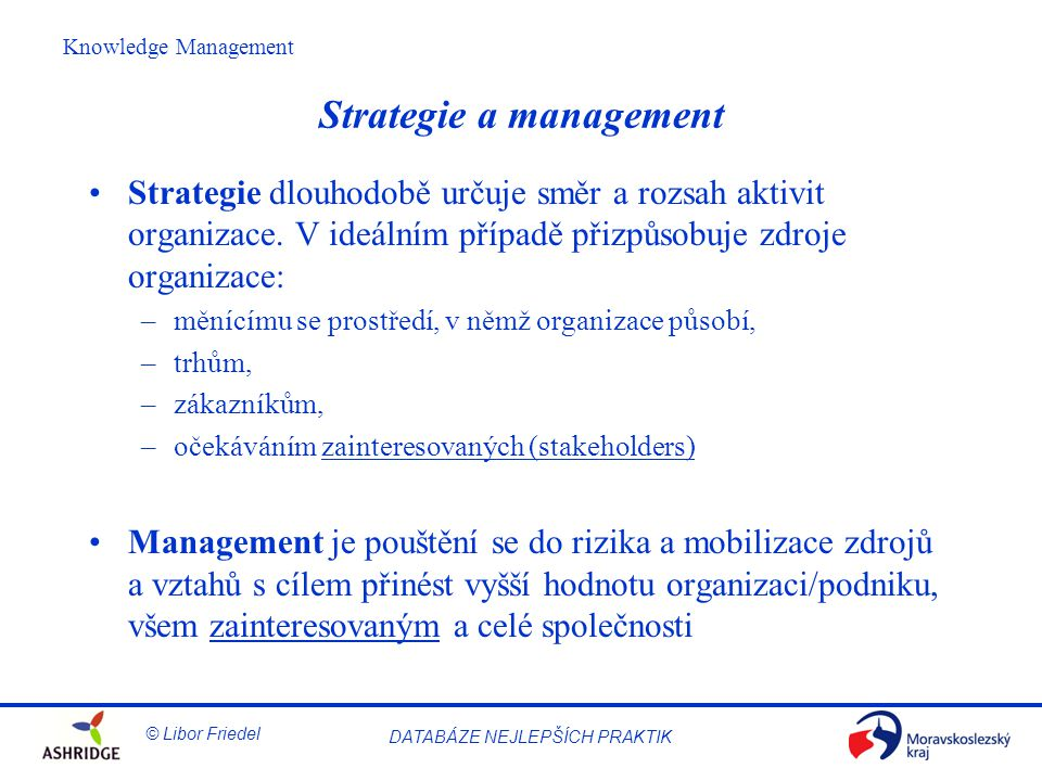 Strategie a management