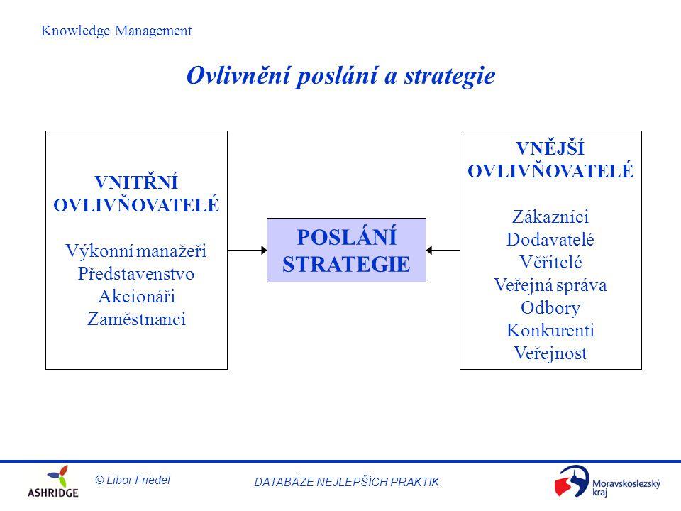 Ovlivnění poslání a strategie