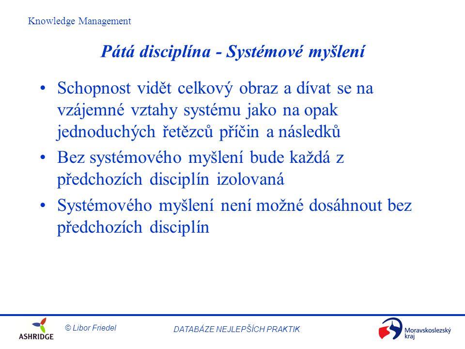 Pátá disciplína - Systémové myšlení