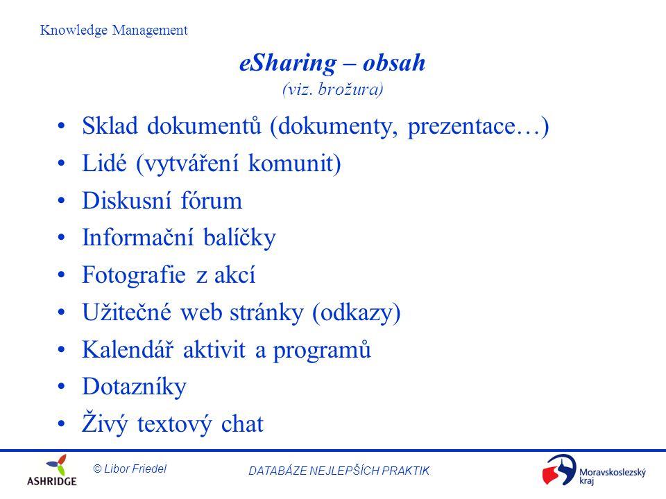 eSharing – obsah (viz. brožura)