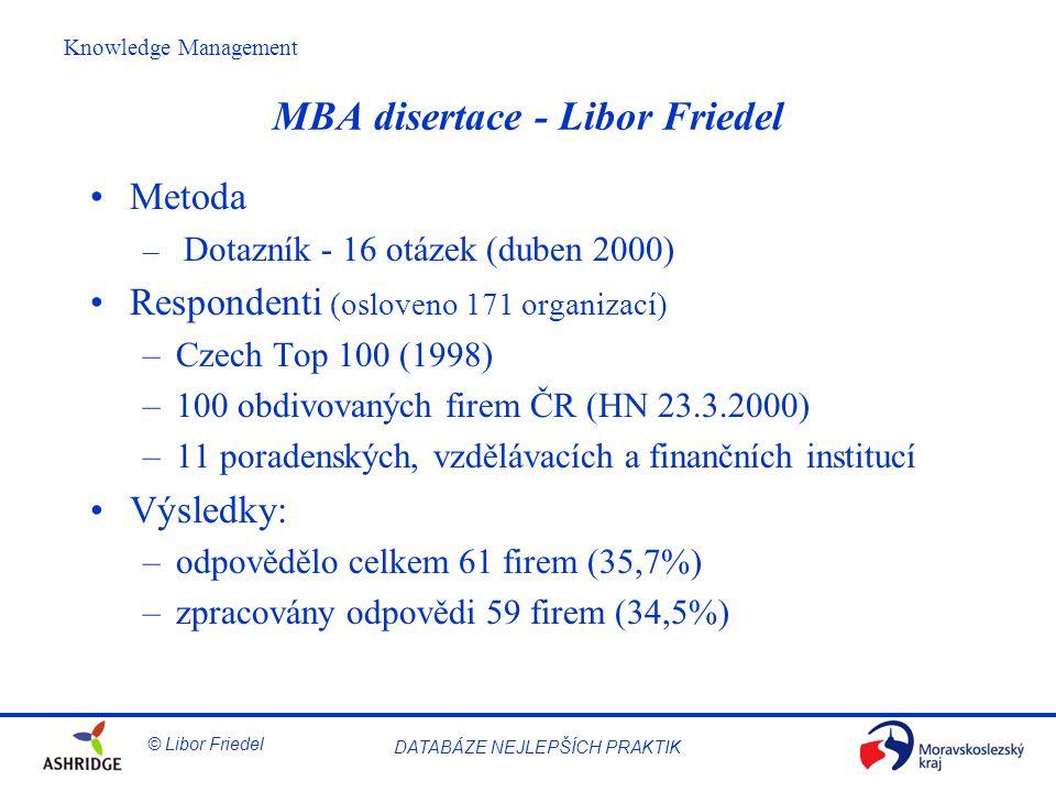 MBA disertace - Libor Friedel