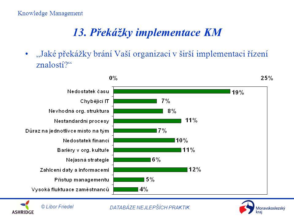 13. Překážky implementace KM