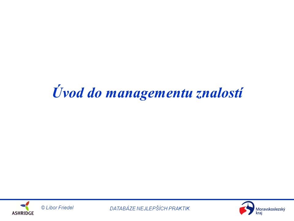 Úvod do managementu znalostí