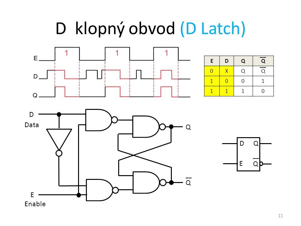 D klopný obvod (D Latch)