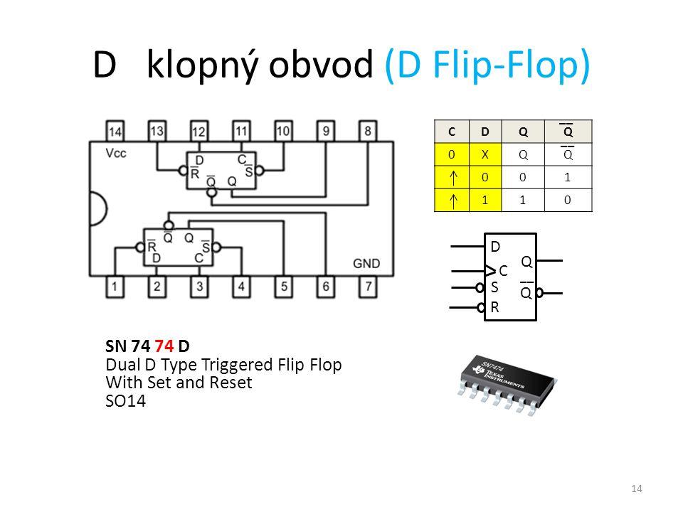 D klopný obvod (D Flip-Flop)