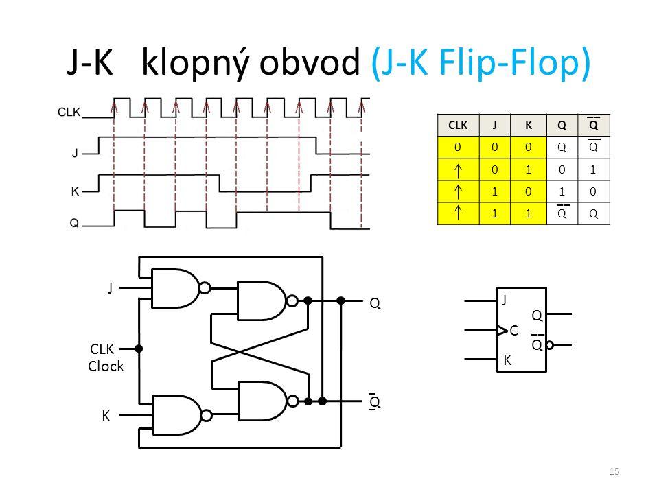 J-K klopný obvod (J-K Flip-Flop)