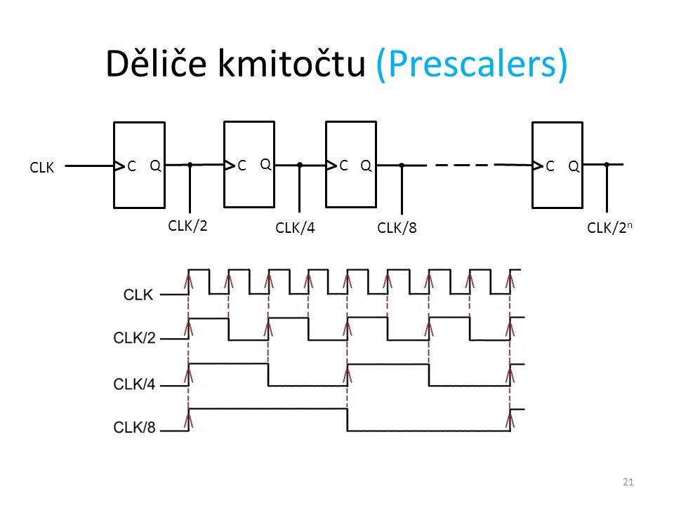 Děliče kmitočtu (Prescalers)