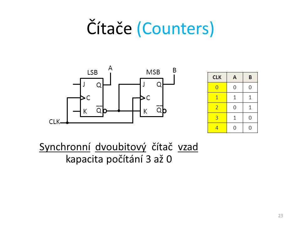 Synchronní dvoubitový čítač vzad