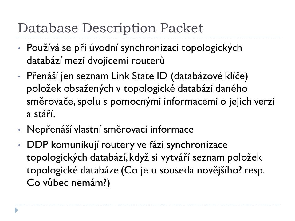Database Description Packet